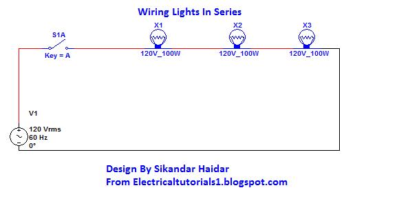 wiring lights in series diagram the wiring diagram how to wiring lights in series electrical tutorials wiring diagram
