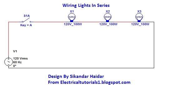 wiring lights in series diagram wiring image how to wiring lights in series electrical tutorials on wiring lights in series diagram
