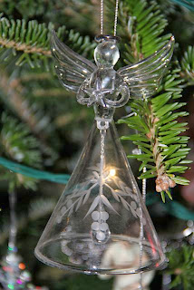 glass angel ornament