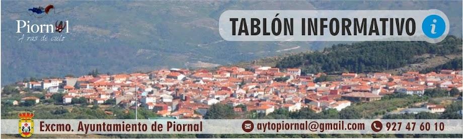 Tablón Informativo Ayuntamiento de Piornal