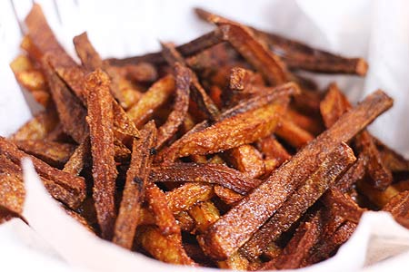 burnt french fries