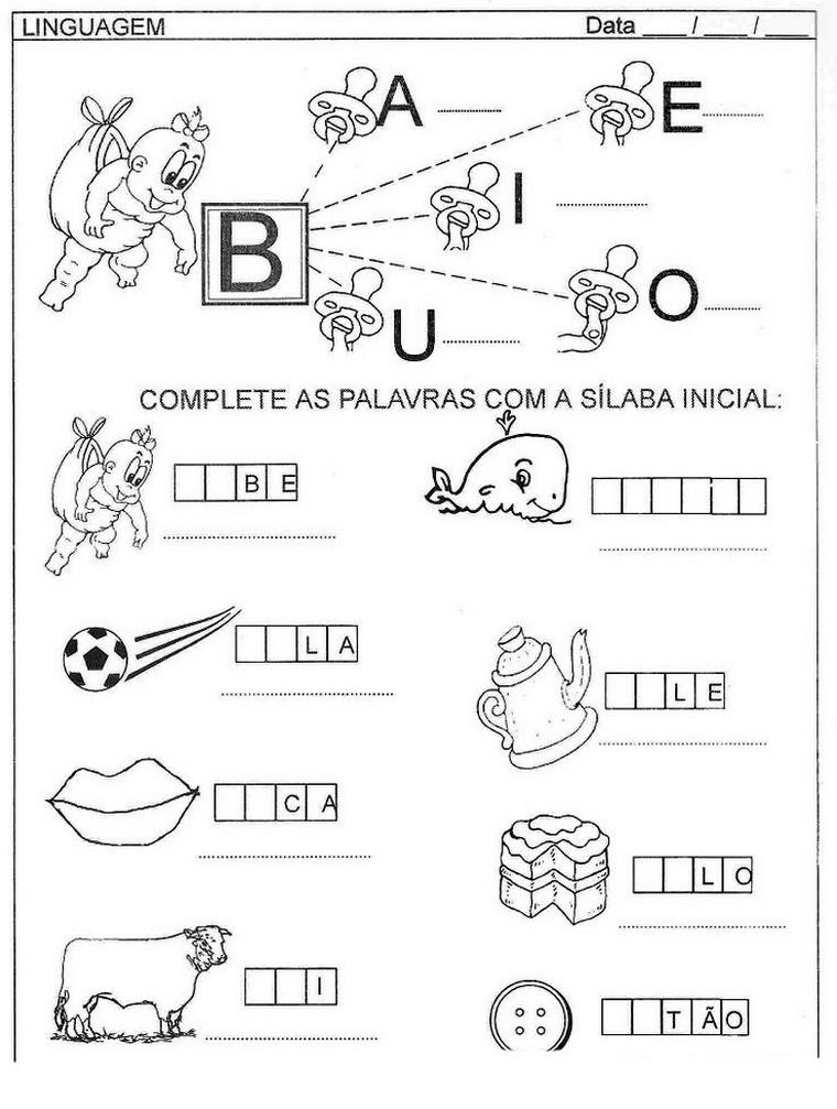 35 ATIVIDADES DE ALFABETIZA    O EXERC  CIOS DESENHOS COLORIR PINTAR