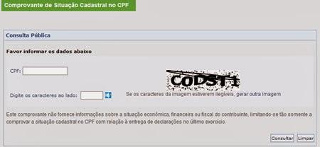 Veja como fazer a sua consulta de CPF pelo site da Receita Federal
