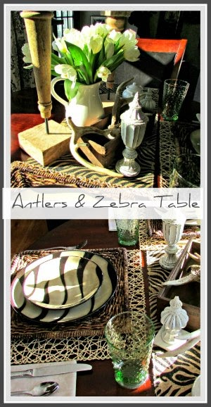 Antler & Zebra Table
