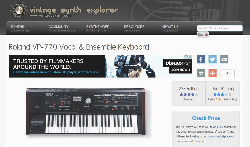 Vintage Synth Explorer
