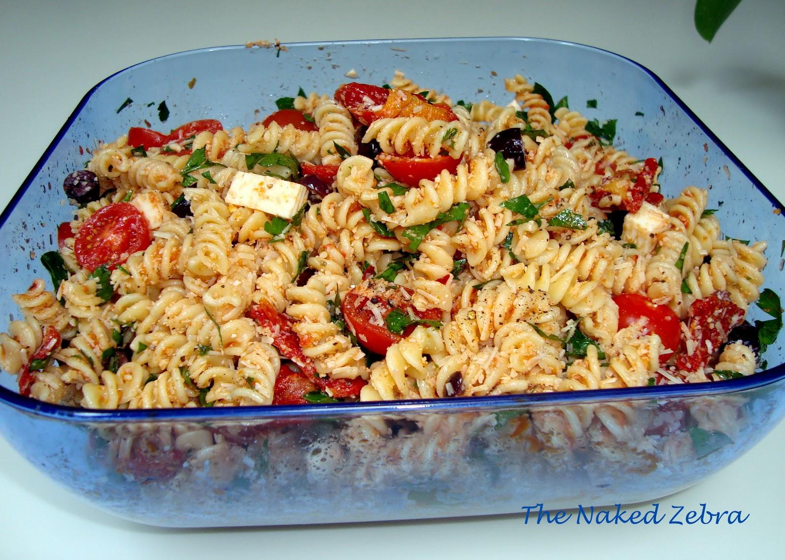 The Naked Zebra Tomato Feta Pasta Salad Ina Garten