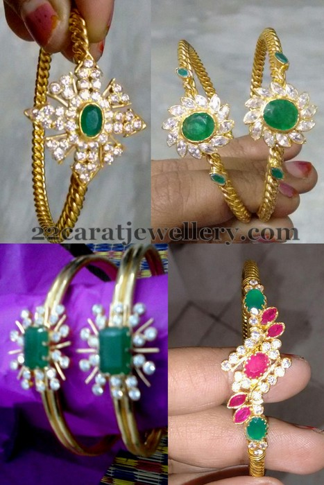 Light Weight Emerald Bangles