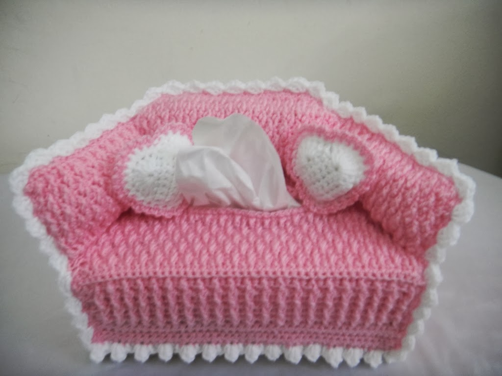 Free Crochet Pattern For Sofa Tissue Box Cover : For the Love of Crochet Along: sofa tissue box cover