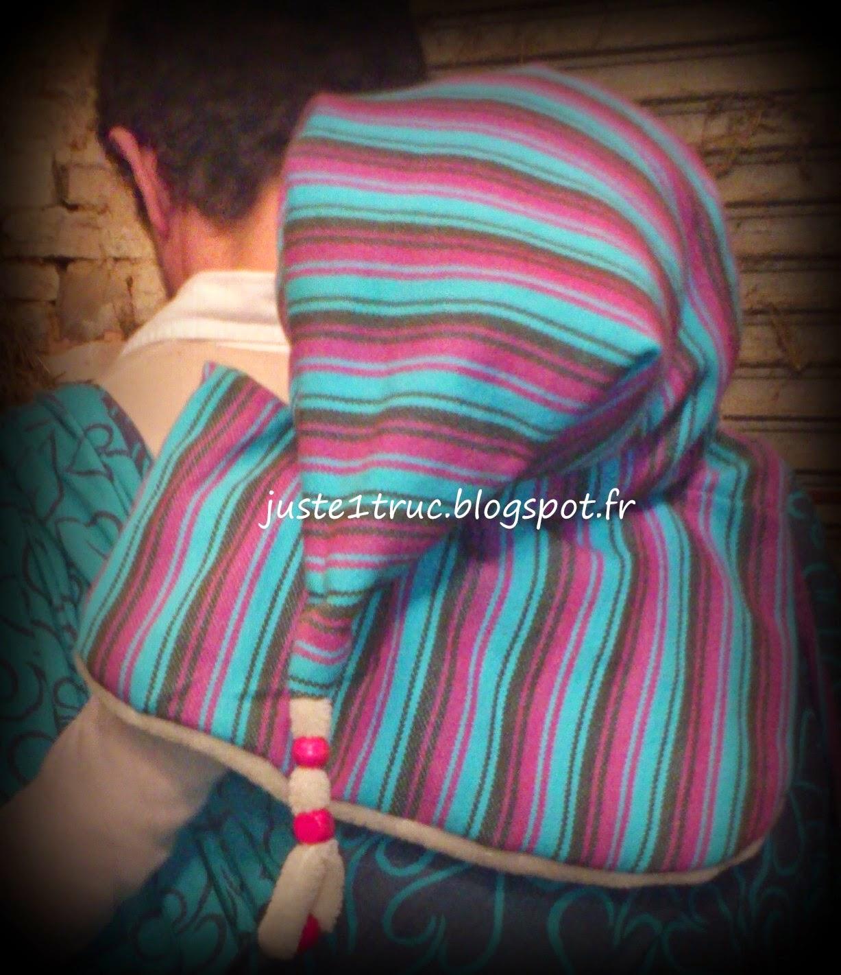 portage bébé bambin capuchouette capuchon capu'chouette capuche chapeau hiver tête protéger