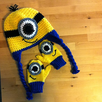 Terrific Fibers Birthdays Minion Hat And Mittens
