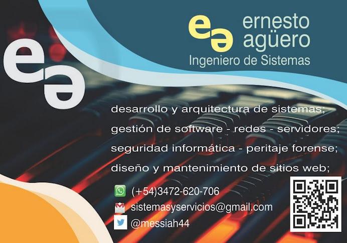 ESPACIO PUBLICITARIO: ING. DE SISTEMAS ERNESTO AGUERO