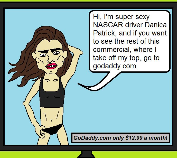 danica patrick godaddy naked bikini