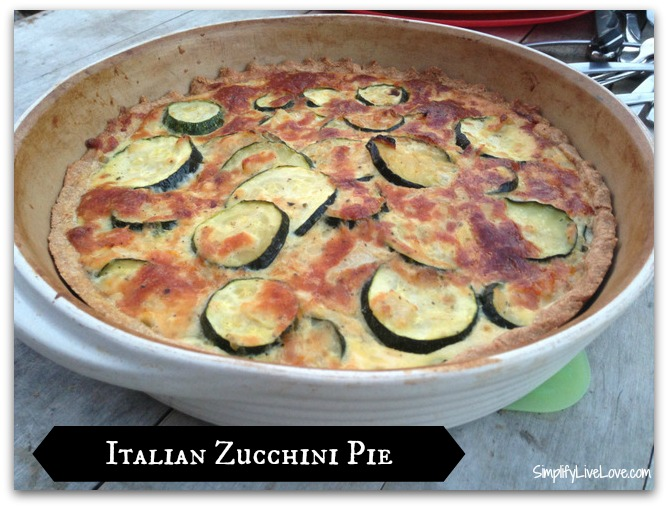 Italian Zucchini Pie by Simplify, Live, Love. This looks like a cross ...