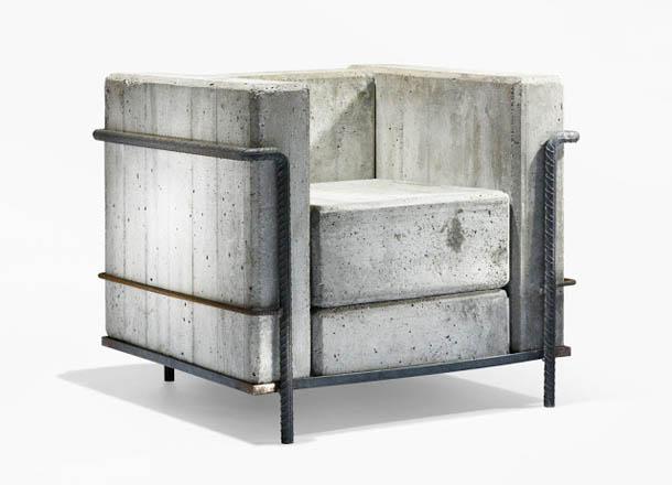 Cadeira de Betão / Cadeira de Concreto - Le Corbusier