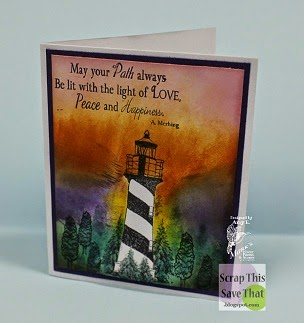 Purple Lighthouse Card