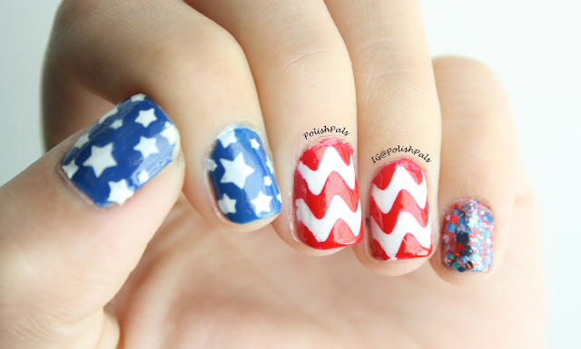 4th of July Nails by Polish Pals