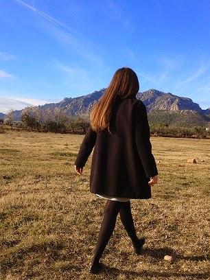 abrigo negro paño