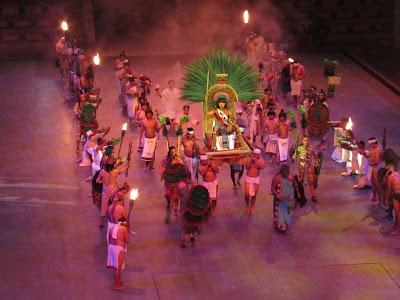 Mexico - Parque Xcaret (Playa del Carmen)  - Espectáculo Nocturno en Xcaret