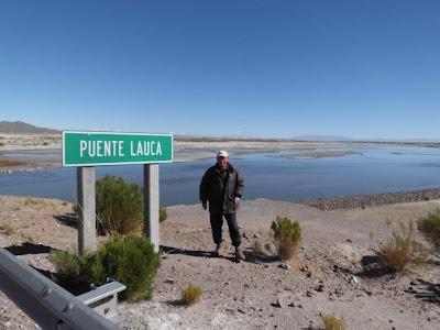 P. Claus kurz vor der chilenischen Grenze