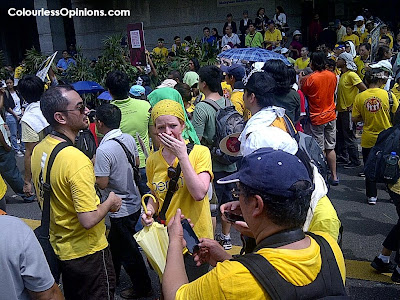 Bersih 3.0 Leboh Pasar Besar caucasians foreigners involved