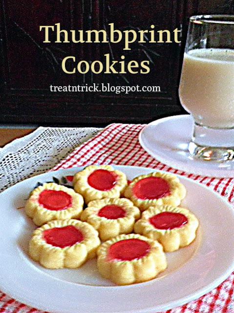 Thumbprint Cookies Recipe @ treatntrick.blogspot.com