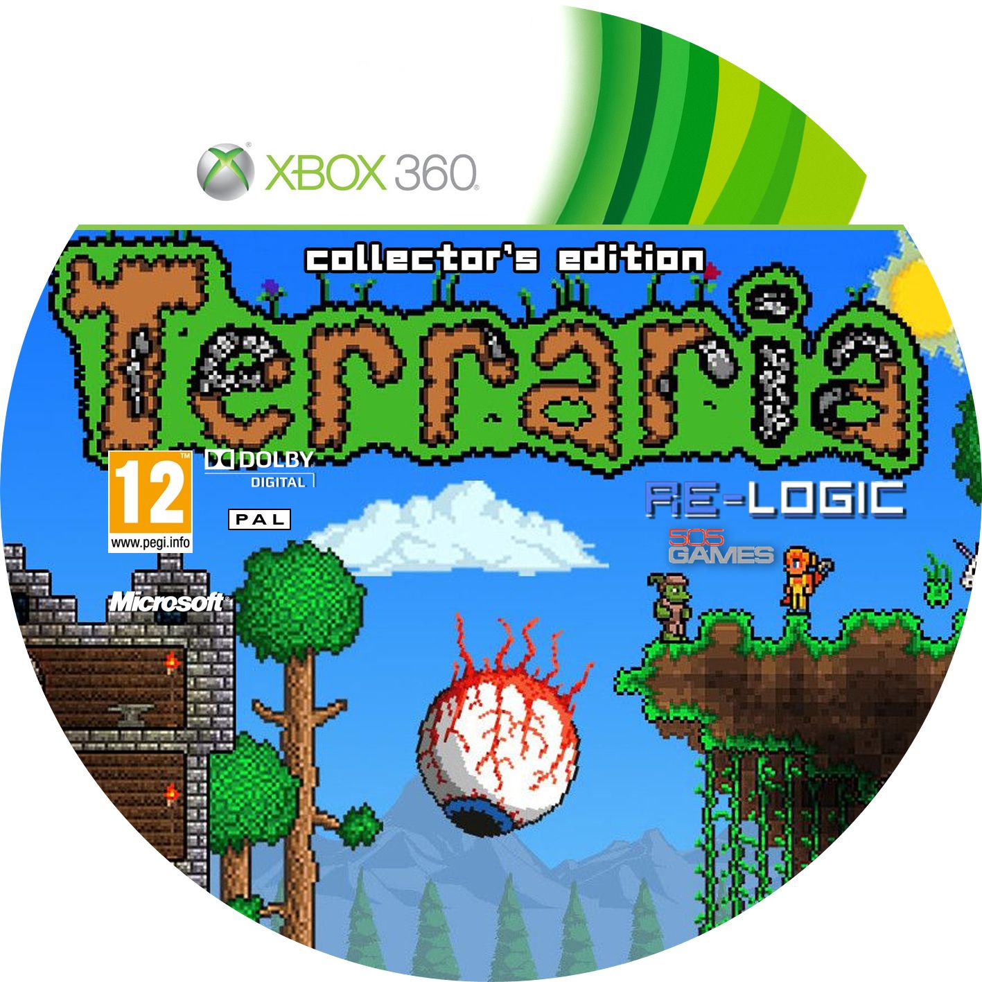 Label Terraria Collectors Edition Xbox 360