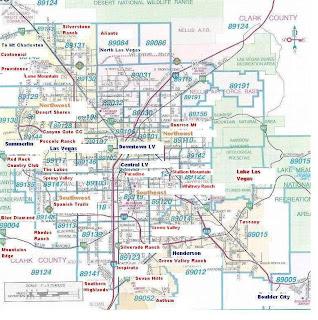 Map of Las Vegas City