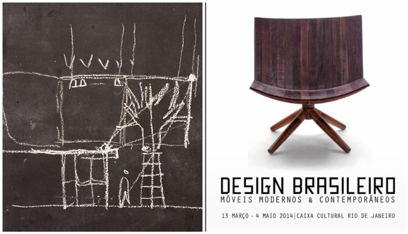 croqui @mauricioarruda e cartaz exposição de móveis de design brasileiro @zaninidezanine