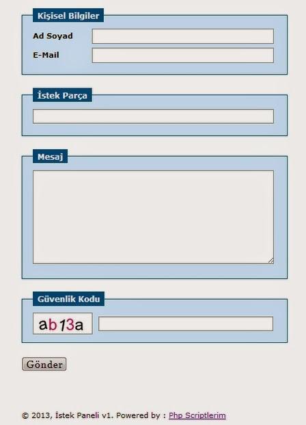 Radyo İstek Paneli Scripti, PHP