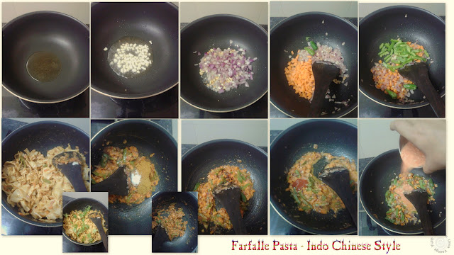 Indo-chinese Farfalle Indian-Pasta