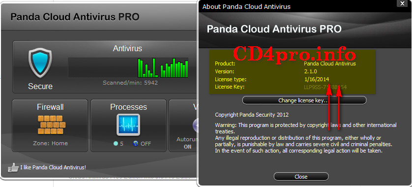 Where can i download free license key for panda cloud pro antivirus By. .