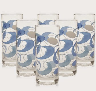 Pepperfry: Buy Green Apple Blue Sapphire Glass 285 ml set of 6 at Rs.141