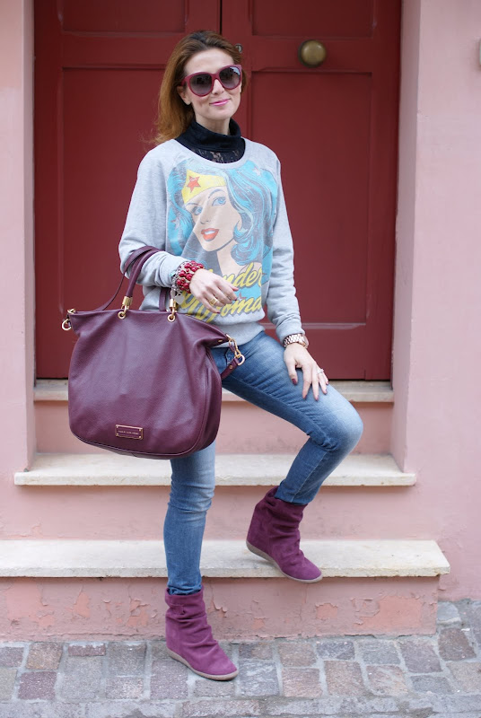 printed sweatshirts, felpa stampata, Lemaré otto boots