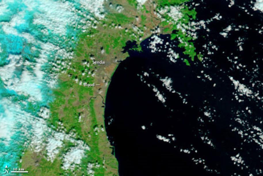 image satellite du japon avant le tsunami