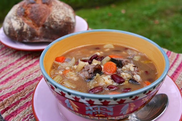beef barley soup: simple living and eating