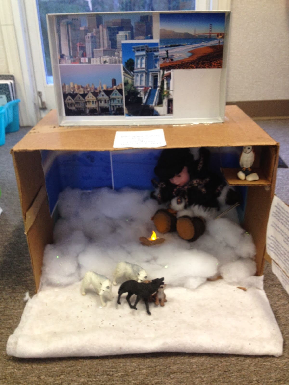 Arctic wolf diorama - photo#23