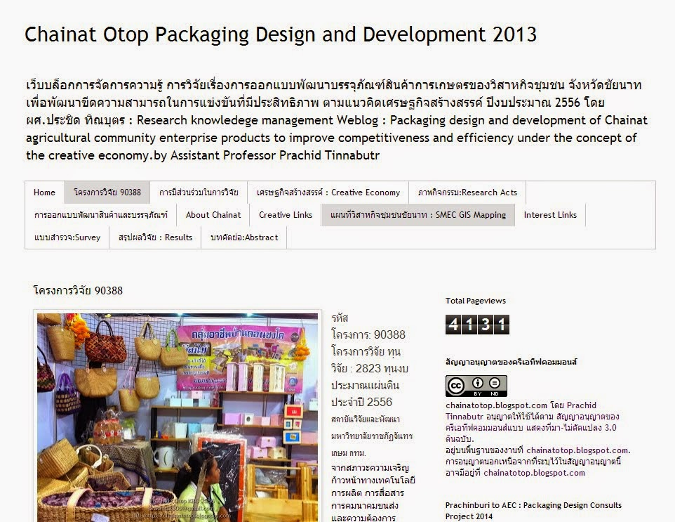 Chainat Otop Packaging Design and Development 2013
