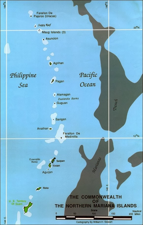 Mariana Islands Archipelago Map