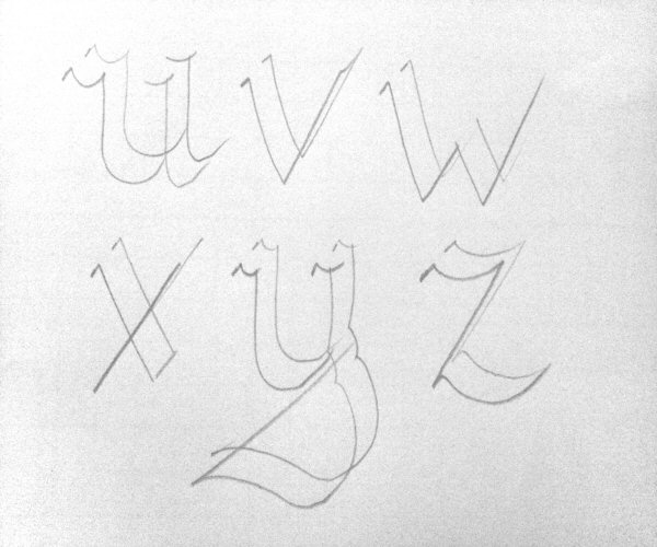 Calligraphy for beginners pencil technique alphabet