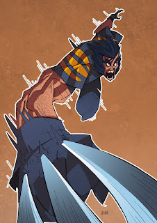 dessinateur illustrateur animateur bande dessinee croquis illustration crayonne animation artist illustrator animator comic book sketch sketches jonathan jon lankry animated wolverine marvel snikt commission