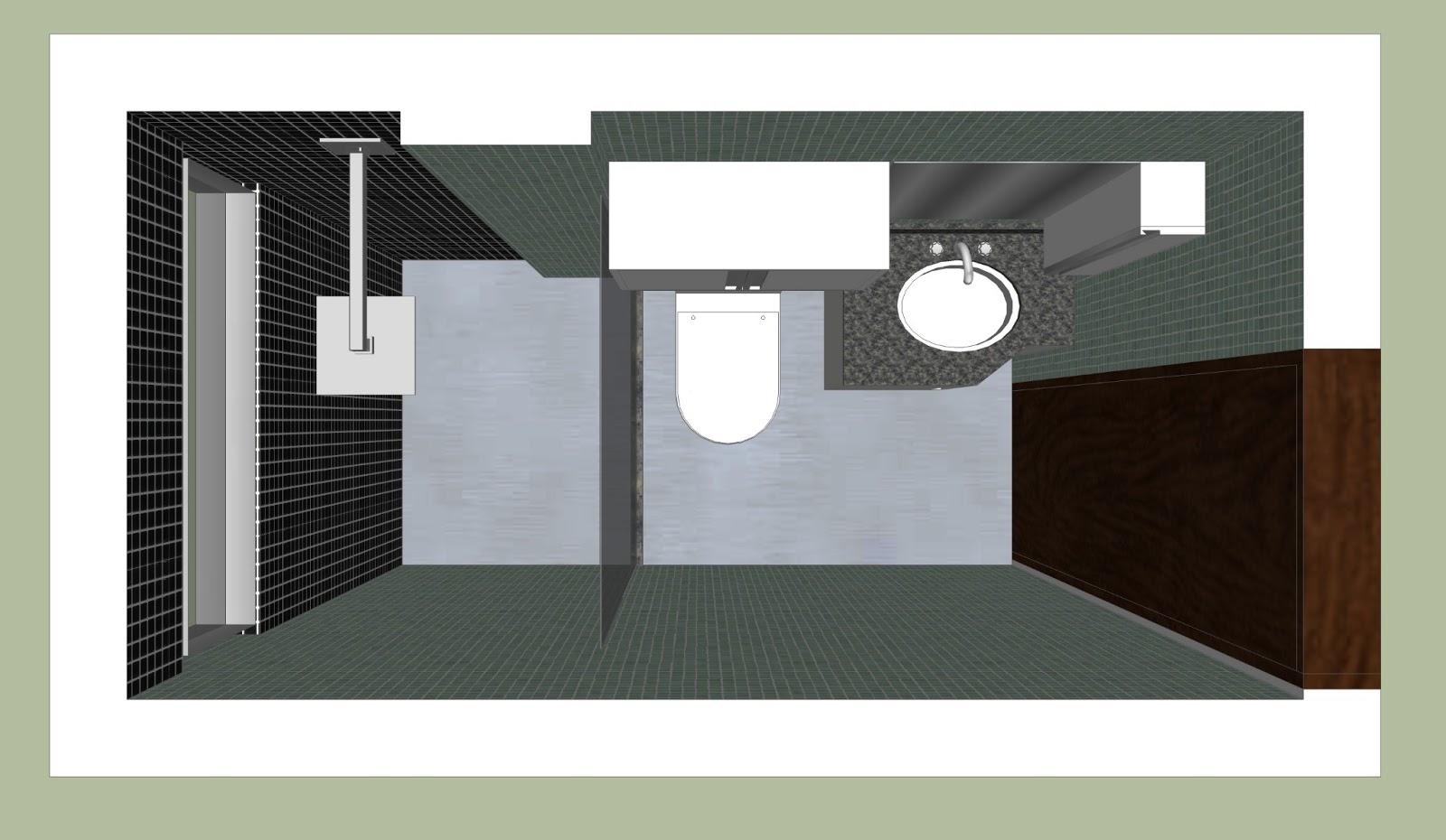 Arquitetura e Interiores: Projeto de Interiores Banheiro Social em  #6E7952 1600 930