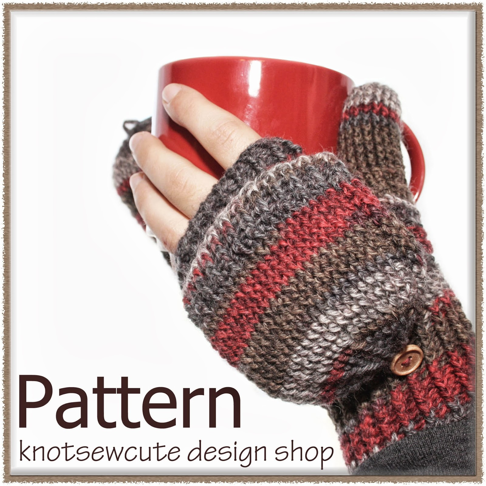 knot•sew•cute design shop: new crochet pattern - peekaboo mittens by ...
