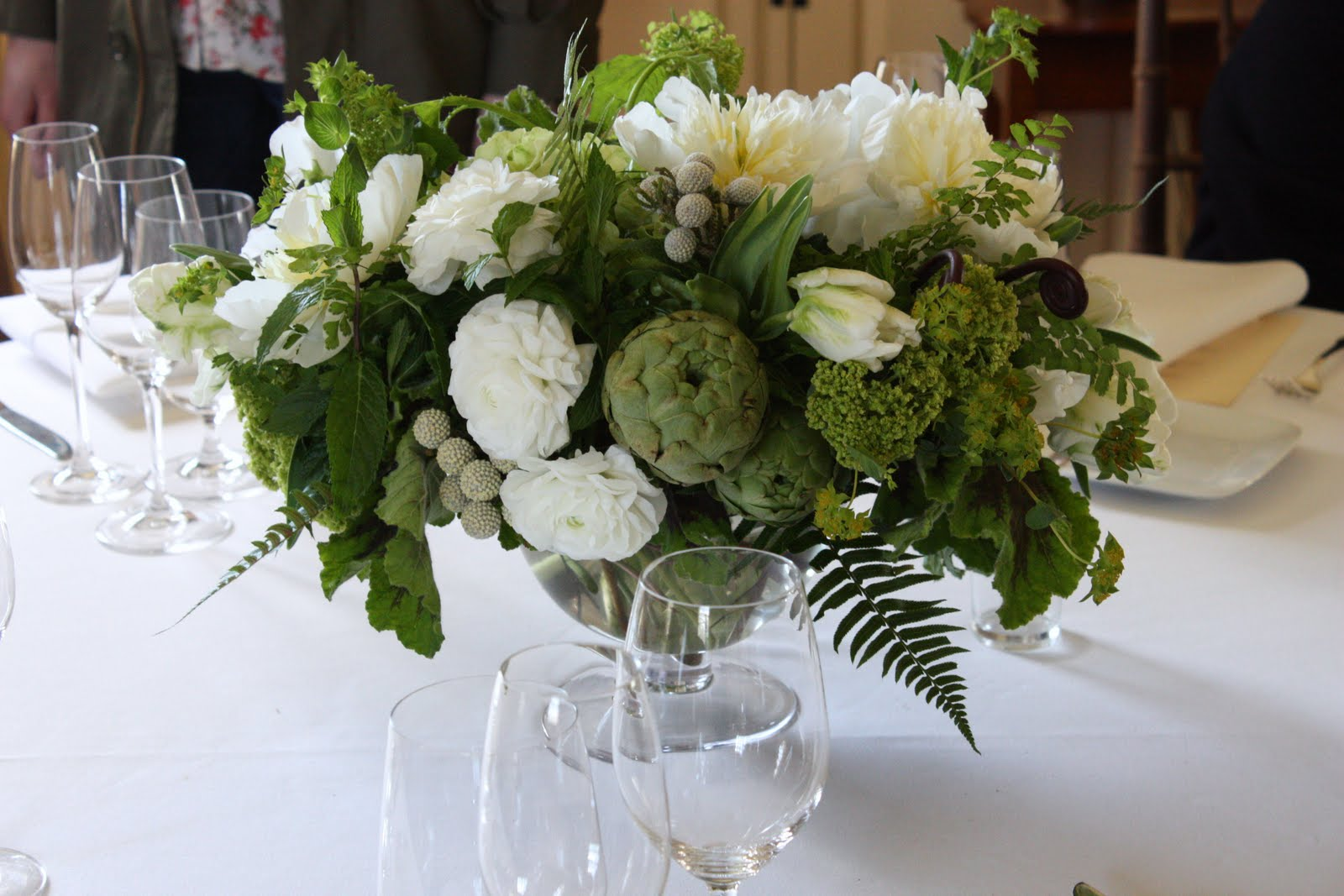 Green And White Centerpieces : Green and white centerpieces blush floral design