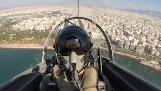 Εντυπωσιακό βίντεο μέσα από το πιλοτήριο του Τ-6Α ΔΑΙΔΑΛΟΣ στην εορτή της ΠΑ