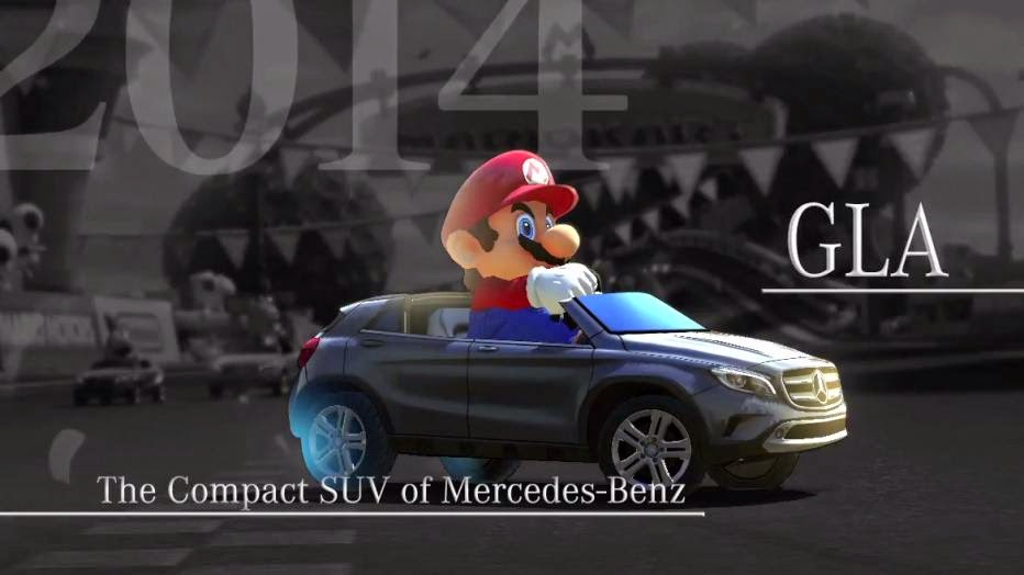 Mario Kart jumps Mercedes-Benz GLA over sharks and ramps