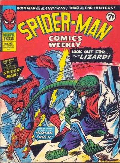 Spider-Man Comics Weekly #93, Lizard & the Human Torch