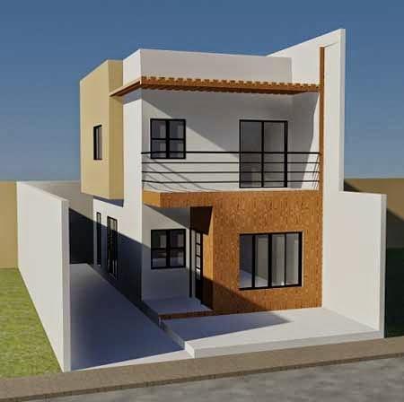 desain rumah minimalis 2 lantai sederhana gambar foto