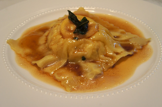 THE MARY BUFFET: Bacon and Egg Ravioli with Brown Butter and Sage