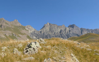 Start of the trail to Cime de Pelousette just above Camp des Fourches