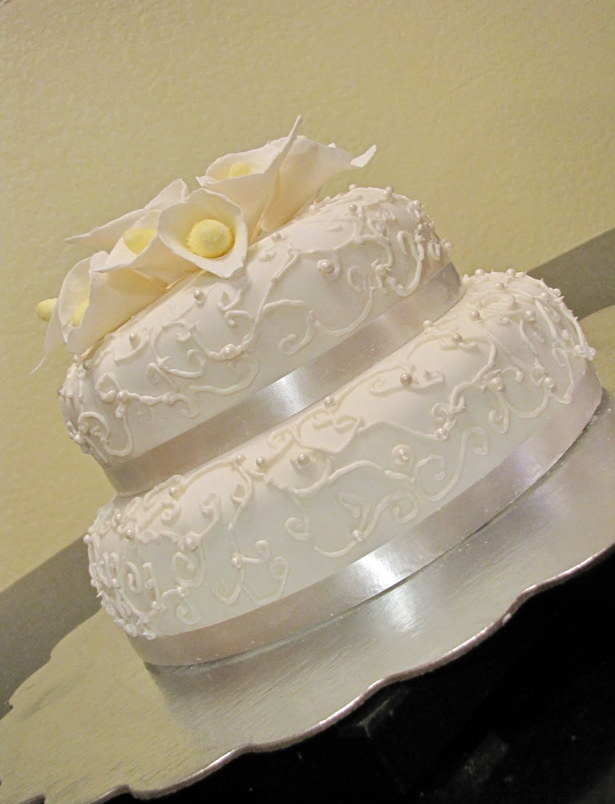 The Kitchen Sink Calla Lily Wedding Cake